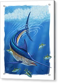 Acrylic Print featuring the digital art Marlin by Scott Ross