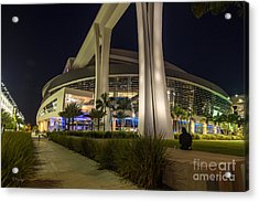Marlins Park Stadium Miami 3 Acrylic Print by Rene Triay Photography
