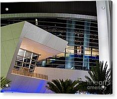 Marlins Park Stadium Miami 6 Acrylic Print by Rene Triay Photography