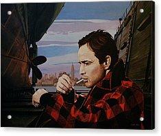 Marlon Brando - On The Waterfront Acrylic Print by Jo King