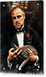 Marlon Brando The Godfather Acrylic Print