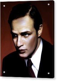 Marlon Brando Tribute Acrylic Print