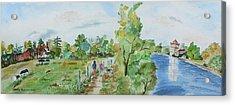 Marlow On Thames 3 Acrylic Print