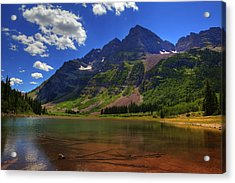 Acrylic Print featuring the photograph Maroon Bells by Alan Vance Ley