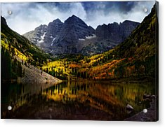 Acrylic Print featuring the photograph Maroon Bells - An American Icon by Ellen Heaverlo