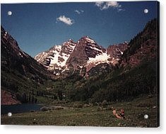 Acrylic Print featuring the photograph Maroon Bells  Colorado by Bill Woodstock