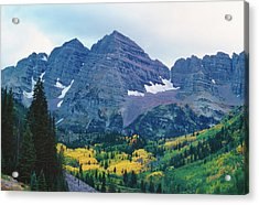 Maroon Bells In Fall Acrylic Print by Adventure photo