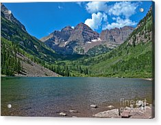 Acrylic Print featuring the photograph Maroon Bells by Jeff Loh