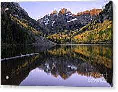 Maroon Bells Reflection Acrylic Print