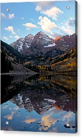 Acrylic Print featuring the photograph Maroon Bells by Ronda Kimbrow