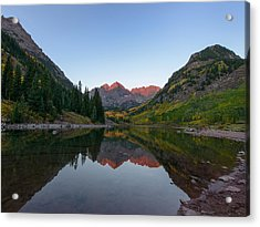Maroon Bells Sunrise Acrylic Print by David Yack
