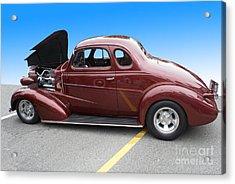 Maroon Coupe Acrylic Print