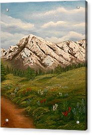 Acrylic Print featuring the painting Maroon Trail Splendor by Sheri Keith