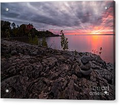 Marquette Harbor Lighthouse Acrylic Print by Todd Bielby