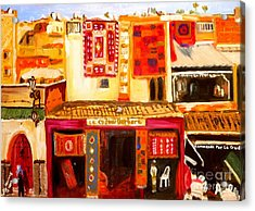Acrylic Print featuring the painting Marrakech by Judy Morris