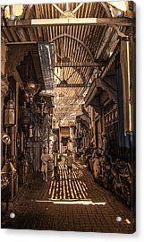 Marrakech Souk With Children Acrylic Print