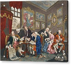 Marriage A La Mode, Plate I, The Acrylic Print by William Hogarth