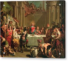 Marriage Feast At Cana Acrylic Print by Gaetano Gandolfi