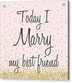 Marry Hearts II Acrylic Print
