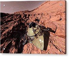 Mars 2 Landing Acrylic Print by Detlev Van Ravenswaay