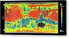 Mars Dust Map Acrylic Print by Esa/cnes/cnrs/ias/universite Paris-sud, Orsay