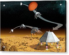 Mars Hopper Spacecraft Acrylic Print