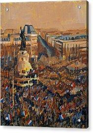 Mars Je Suis Charlie 11 Janvier 2015 Acrylic Print
