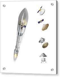 Mars Polar Lander Acrylic Print