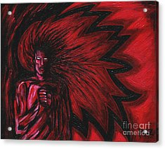 Acrylic Print featuring the painting Mars Rising by Roz Abellera Art