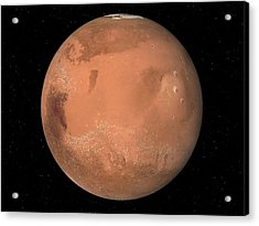 Mars Topography Acrylic Print