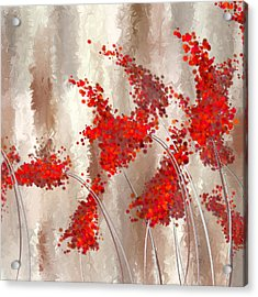 Marsala Abstract Acrylic Print