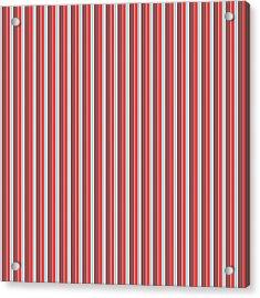 Marsala Stripe 2 Acrylic Print