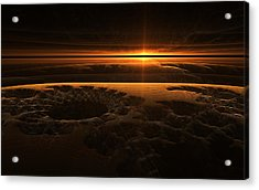 Marscape Acrylic Print by GJ Blackman