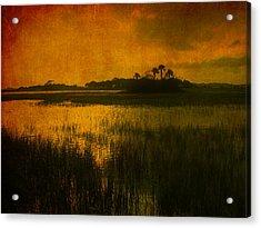 Marsh Island Sunset Acrylic Print by Susanne Van Hulst
