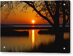 Acrylic Print featuring the photograph Ocean City Sunset At Old Landing Road by Bill Swartwout