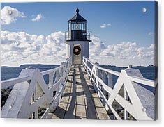 Marshall Point Light Acrylic Print by David Cote
