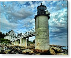 Marshall Point Light From The Rocks Acrylic Print by Carolyn Fletcher