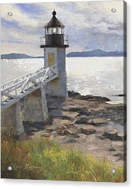 Marshall Point Lighthouse Acrylic Print by Anna Rose Bain