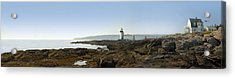 Marshall Point Lighthouse - Panoramic Acrylic Print by Mike McGlothlen