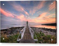 Marshall Point Sunset Acrylic Print by Lori Deiter