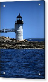 Marshall Point Surrounded By Blue Acrylic Print by Karol Livote