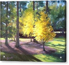 Marshallville Landscape With Yellow Trees Acrylic Print
