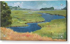 Marshes At High Tide Acrylic Print