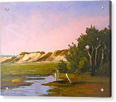 Marshlands Plymouth Landing Acrylic Print by Betty Ann Morris