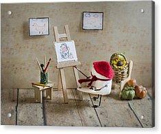 Marshmallow Masterpiece Acrylic Print by Heather Applegate