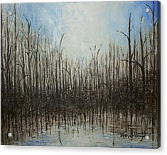 Marshy Parallels Acrylic Print by Monica Veraguth