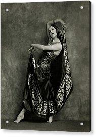 Martha Graham Dancing Acrylic Print by Nickolas Muray