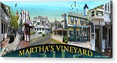 Martha's Vineyard Collage Acrylic Print by Gerry Robins