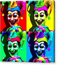 Marti Gras Carnival Jester Four 20130129 Acrylic Print by Wingsdomain Art and Photography