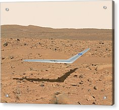 Martian Drone Acrylic Print by Nasa Illustration/dennis Calaba